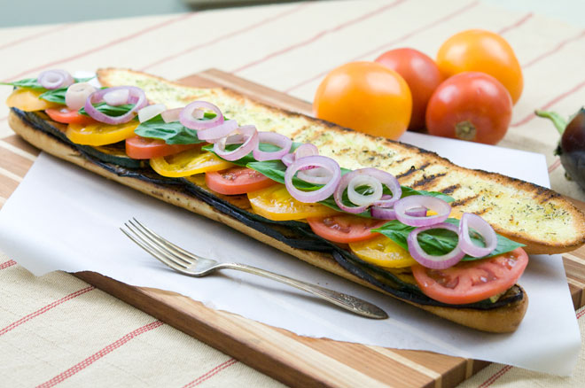 Vegan Grilled Eggplant Sandwich