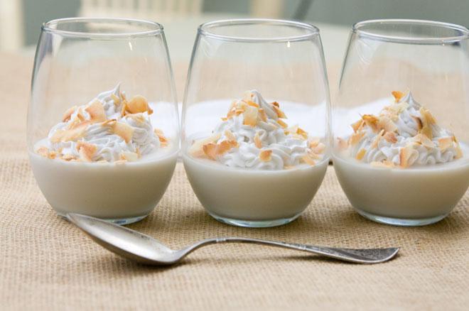 Vegan Toasted Coconut Pots De Creme
