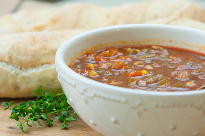 Vegan Crockpot Slow Cooker Vegetable Soup