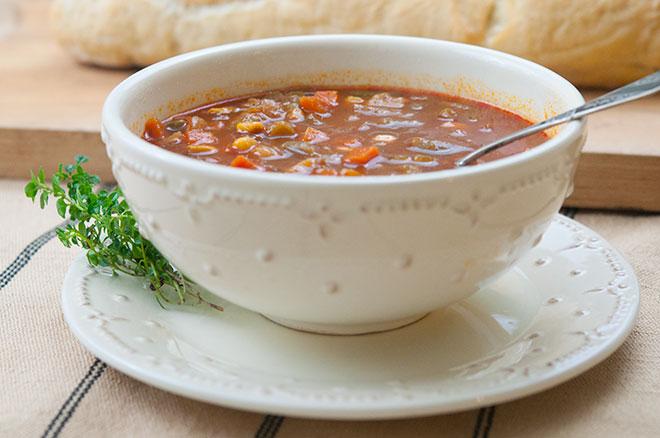 Vegan Slow Cooker Vegetable Soup