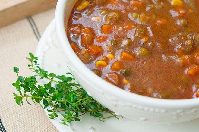 Vegan Crockpot Vegetable Soup