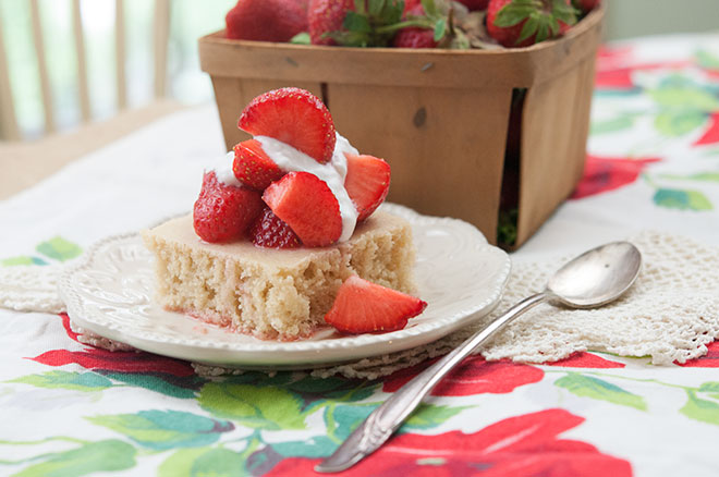 Vegan Strawberry & Vanilla Shortcake