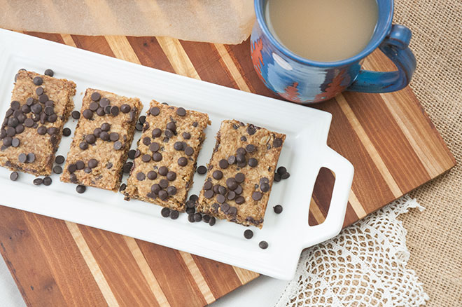 Vegan Maple Toffee Oatmeal Bars